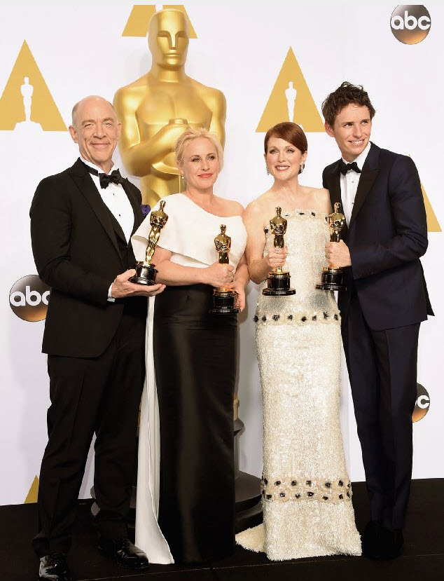 J.K. Simmons, Patricia Arquette, Julianne Moore, and Eddie Redmayne