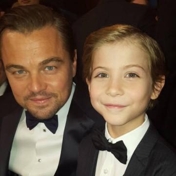 Jacob Tremblay and Leonardo DiCaprio
